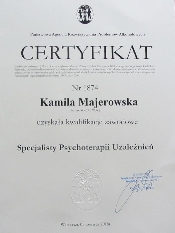 certyfikat parpa